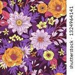 elegant floral pattern in small ...   Shutterstock .eps vector #1324964141