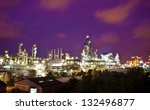 petrochemical plant in night... | Shutterstock . vector #132496877