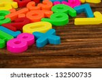 colorful plastic numbers on a... | Shutterstock . vector #132500735