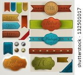 leather labels and ribbons... | Shutterstock .eps vector #132501017