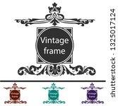 elegance vintage black frames | Shutterstock .eps vector #1325017124