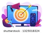 businessman with remote control ... | Shutterstock .eps vector #1325018324