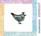 beautiful bird. vector...   Shutterstock .eps vector #1325021117