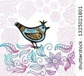 beautiful bird. vector...   Shutterstock .eps vector #1325021801