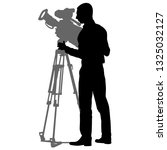 cameraman with video camera.... | Shutterstock . vector #1325032127