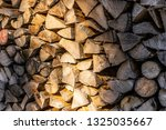 Close Up Of A Stack Of Logs...