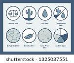 set of 8 vector icons.... | Shutterstock .eps vector #1325037551