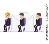 businessmen sit in a chair and... | Shutterstock .eps vector #1325043644