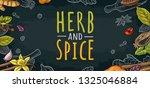 poster with pepper  cinnamon ...   Shutterstock .eps vector #1325046884