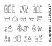 cosmetic bottles related icons  ... | Shutterstock .eps vector #1325051687