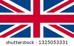 united kingdom flag. flag of... | Shutterstock .eps vector #1325053331