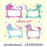 collection of fairy unicorn...   Shutterstock .eps vector #1325055641