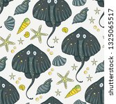 sea seamless vector pattern....   Shutterstock .eps vector #1325065517