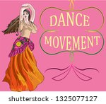 the girl is dancing advertising ... | Shutterstock .eps vector #1325077127
