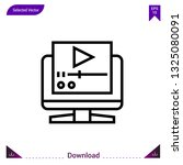 video player icon vector . best ...