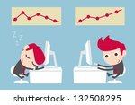 lazy and hardworking businessman   Shutterstock .eps vector #132508295