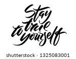 hand drawn vector lettering....   Shutterstock .eps vector #1325083001