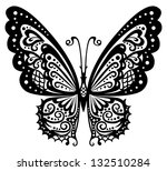 artistic pattern with butterfly ... | Shutterstock . vector #132510284