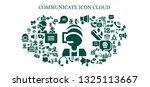 communicate icon set. 93 filled ... | Shutterstock .eps vector #1325113667