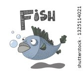 abc  f is for fish. alphabet.... | Shutterstock .eps vector #1325114021