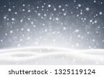 christmas background of falling ... | Shutterstock . vector #1325119124