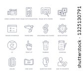 set of 16 thin linear icons... | Shutterstock .eps vector #1325130791