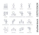 set of 16 thin linear icons... | Shutterstock .eps vector #1325132624