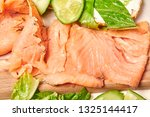 salmon with cottage cheese aand ... | Shutterstock . vector #1325144417