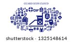 guard icon set. 93 filled guard ... | Shutterstock .eps vector #1325148614