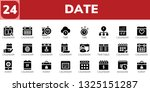 date icon set. 24 filled date... | Shutterstock .eps vector #1325151287