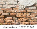 old red brick wall texture... | Shutterstock . vector #1325151347