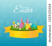 abstract happy easter template...   Shutterstock .eps vector #1325152424