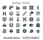 social icon set. 30 filled... | Shutterstock .eps vector #1325156801