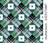 green diagonal fabric texture... | Shutterstock .eps vector #1325172887
