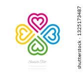 clover modern logo line design... | Shutterstock .eps vector #1325173487
