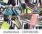 geometric patterns with polka... | Shutterstock .eps vector #1325182181