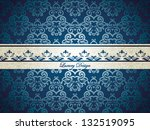 designed vintage card with ... | Shutterstock .eps vector #132519095