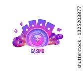 casino logo chips roulette... | Shutterstock .eps vector #1325203877