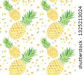 seamless abstract pineapple... | Shutterstock .eps vector #1325213024