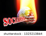 socialism on fire with uncle... | Shutterstock . vector #1325213864