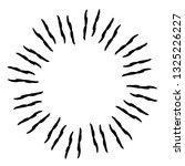 vintage hand drawn sunburst... | Shutterstock .eps vector #1325226227