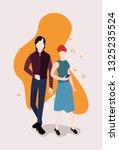 people activities concept | Shutterstock .eps vector #1325235524