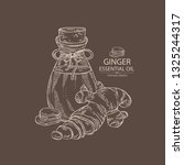 background with ginger and... | Shutterstock .eps vector #1325244317