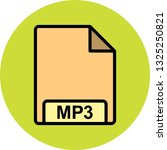 vector mp3 icon  | Shutterstock .eps vector #1325250821