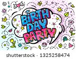 birthday party word bubble in...   Shutterstock .eps vector #1325258474