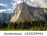 Landscape view of El Capitan from El Cap Meadow in Yosemite Valley, Yosemite National Park, California.