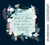 floral wedding invitation peony ... | Shutterstock .eps vector #1325265167
