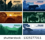 set of eastern europe countries ... | Shutterstock .eps vector #1325277311