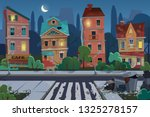 night old city view with... | Shutterstock .eps vector #1325278157