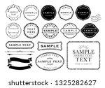 vintage  stamp frame | Shutterstock .eps vector #1325282627